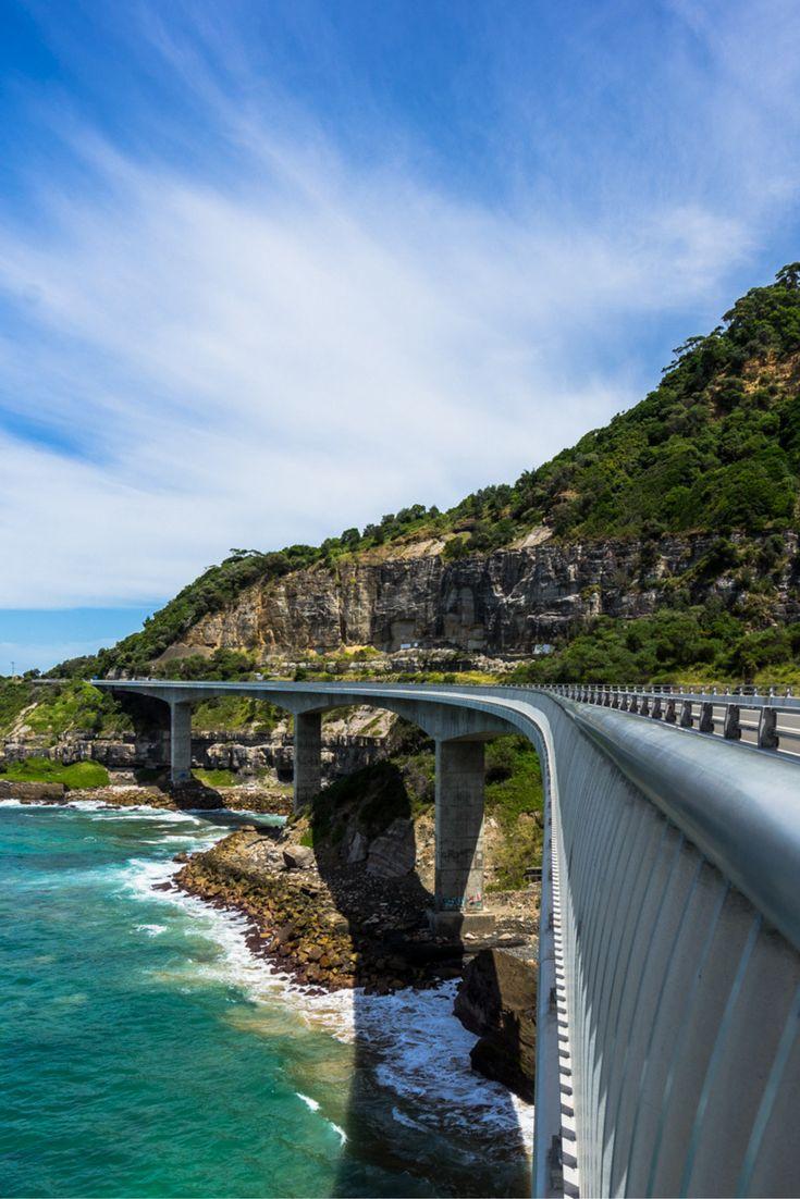 Sea Cliff Bridge, Wollongong, NSW, Australia.   Photo: NOMADasaurus  #australia #seeaustralia #newsouthwales #travelaustralia #roadtripaustralia