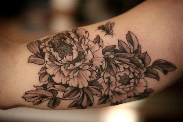 Peony tattoo - 50 Peony Tattoo Designs and Meanings <3 !