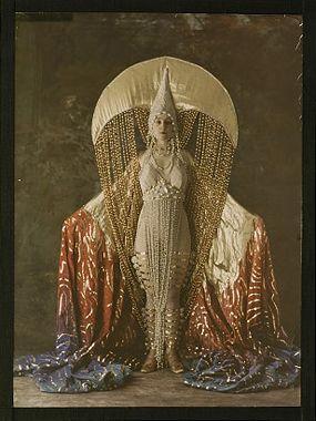 Erte-inspired? ~ trish ...///... Autochrome: Women's costume figuring a moon, circa 1921, Salon du goût français.