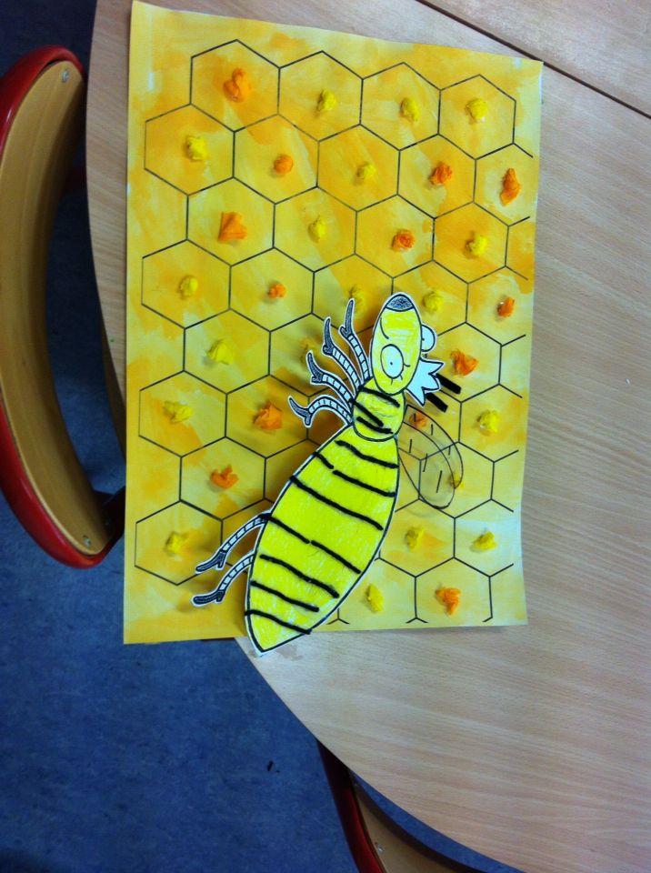 Fond de la ruche a l 39 aquarelle miel papier cr pon en - La ruche a miel ...