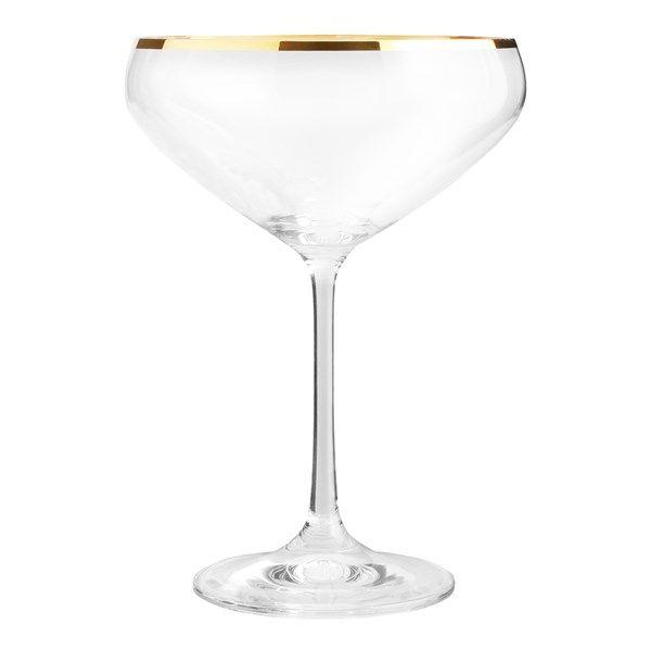 Romance Champagneskål 34 cl guldkant