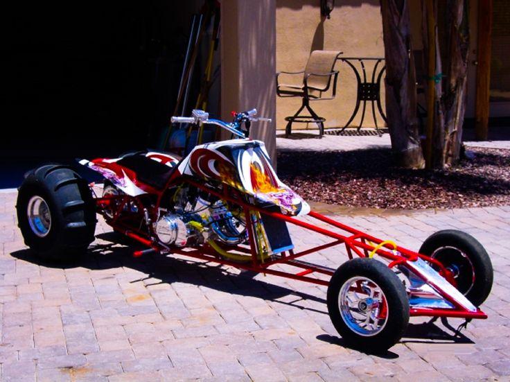 Chuck northrup 39 s rigid xulw drag racing yamaha banshee atv for Deptford honda yamaha