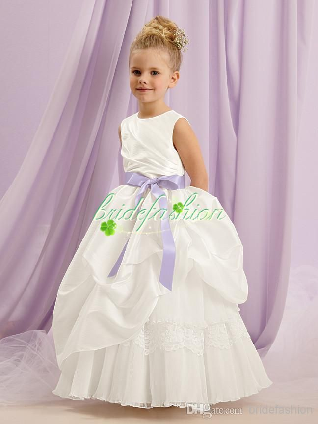 Dresses For Flower Girls Pretty Ball Gown Flowergirl Dresses Jewel Floor Length Dresses Special Satin Kids Bridesmaid Dresses 1132 Dresses For Flower Girl In Wedding From Bridefashion, $65.52| Dhgate.Com
