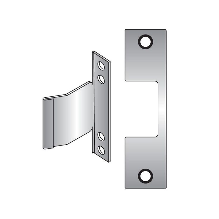 HES E PLATE Faceplate for HES 1006 Series Electric Strikes for Corbin/Russwin Se Satin Brass Faceplate Faceplate