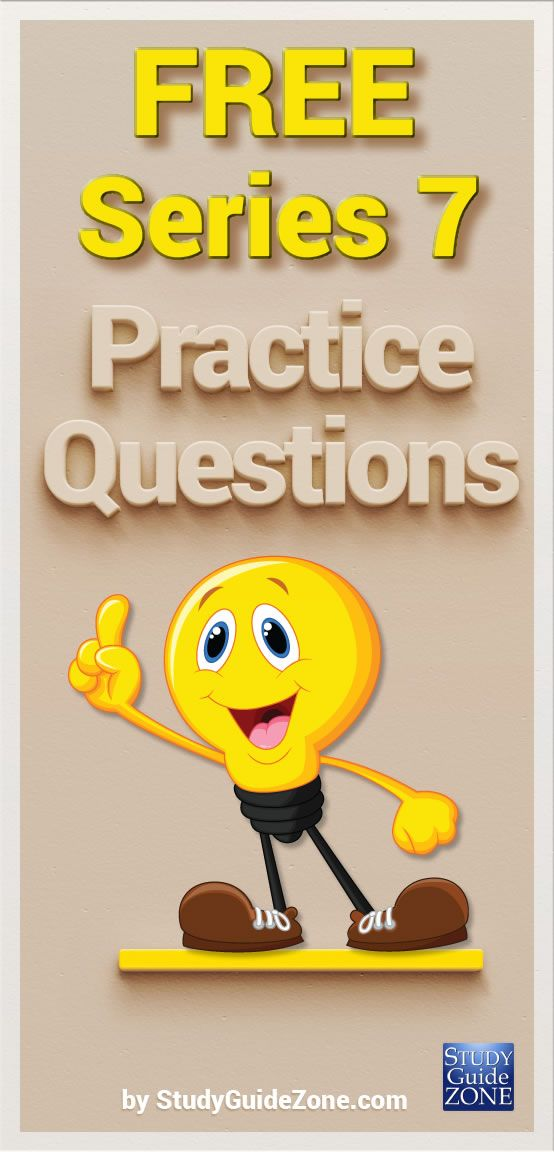 Get free Series 7 practice questions and study tips to help you prep for the Series 7 test. #series7test #series7prep