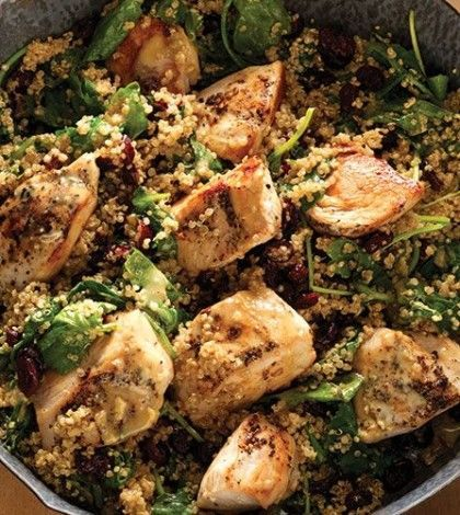 Dijon Chicken & Quinoa Skillet with Baby Kale & Cranberries image