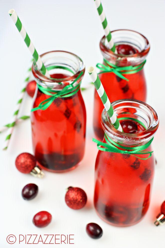 Mistletoe Cocktail! Perfect for Christmas Parties! #christmas #holiday 1 cup Sierra Mist Cranberry Splash   2 ounces vodka   2 tablespoons grenadine   splash lime juice