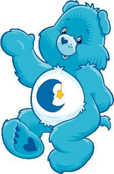 Soneca (Bons Sonhos) - Cor azul, tem na barriga uma meia-lua e uma estrela;