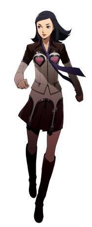 Amano Maya, updated design for Persona 2 Innocent Sin on PSP, by Soejima Shigenori