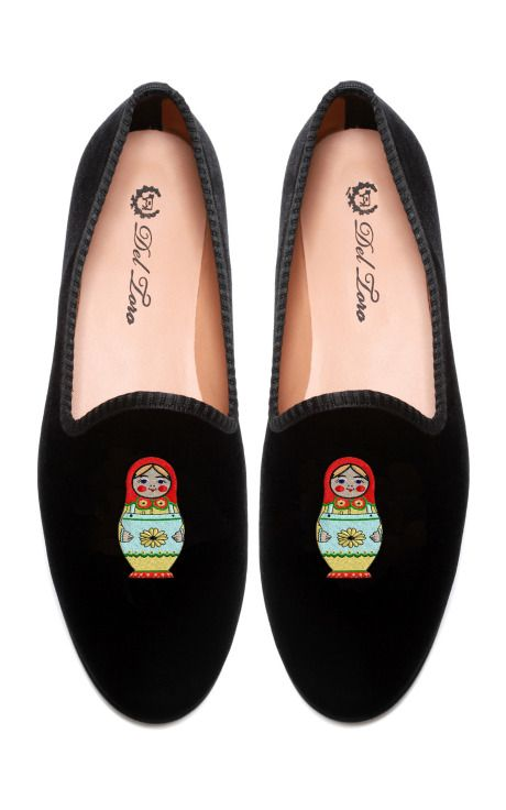 Prince Albert Matryoshka Slipper Loafers by Del Toro