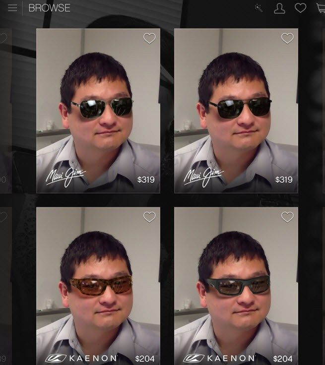 Glasses.com's mobile app scans your face in 3D, lets you try on sunglasses virtually