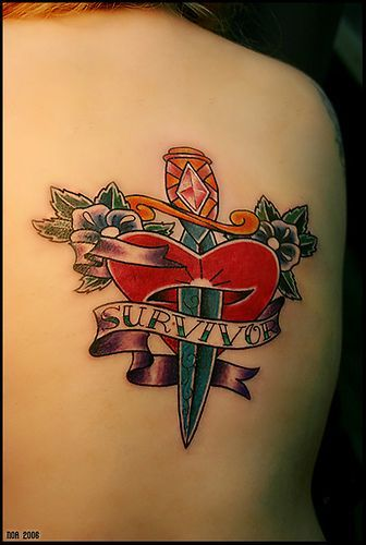: Tattoo Ideas, Tattoo Stuff, Survivor Tattoo, Hardy Heart, Heart Tattoo, Dagger Tattoo, Tattoo Design, Tattoo Heart, Amazing Tattoo