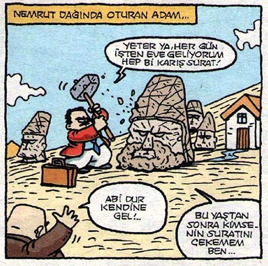 Özer Aydoğan  Nemrut Dağında Oturan Adam