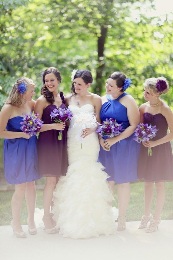 1000 images about purple blue gray wedding on pinterest for Purple and grey wedding dresses