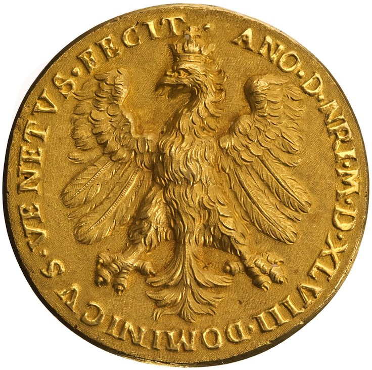 Medal of Sigismund II Augustus on the occasion of birthday anniversary and coronation (obverse) by Dominicus Venetus, 1548, Ossolineum