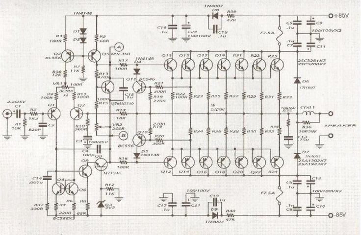 600w audio amplifier circuit with 2sc5200 2sa1943