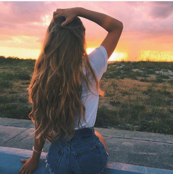Tumblr girl loira. Fotos sozinha no por do sol. Pinterest: @giovana