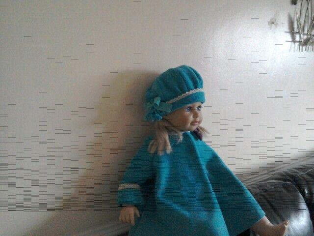 Dolls coat and hat