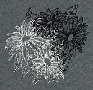 Engraved Daisies | Urban Threads: Unique and Awesome Embroidery Designs