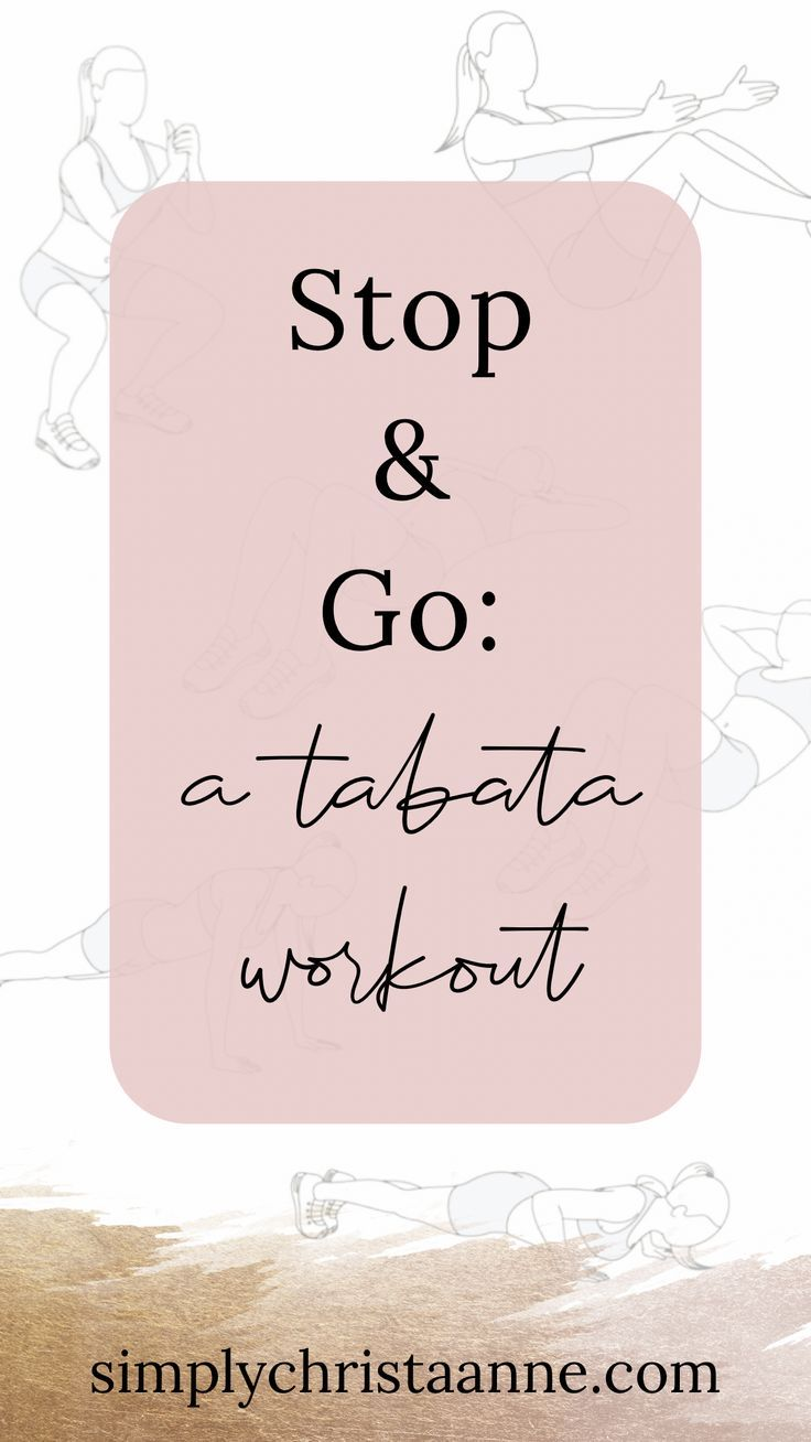 Tabata workouts are efficient ways to burn calories and ...