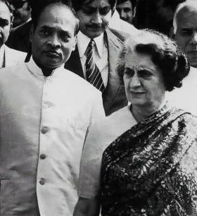 PV with Indira Gandhi http://guruprasad.net/posts/p-v-narasimha-rao-the-forgotten-hero-and-architect-of-modern-india/