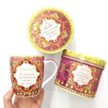 Journey Mug - Intrinsic.  Presented in a pretty box, perfect for a gift. Journey, let life be one big bold daring adventure - Adele Basheer