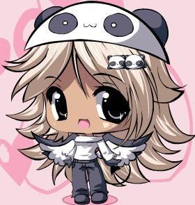 panda anime girl chibi