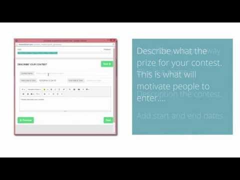 Create a contest in minutes with the quick contest creator. - YouTube
