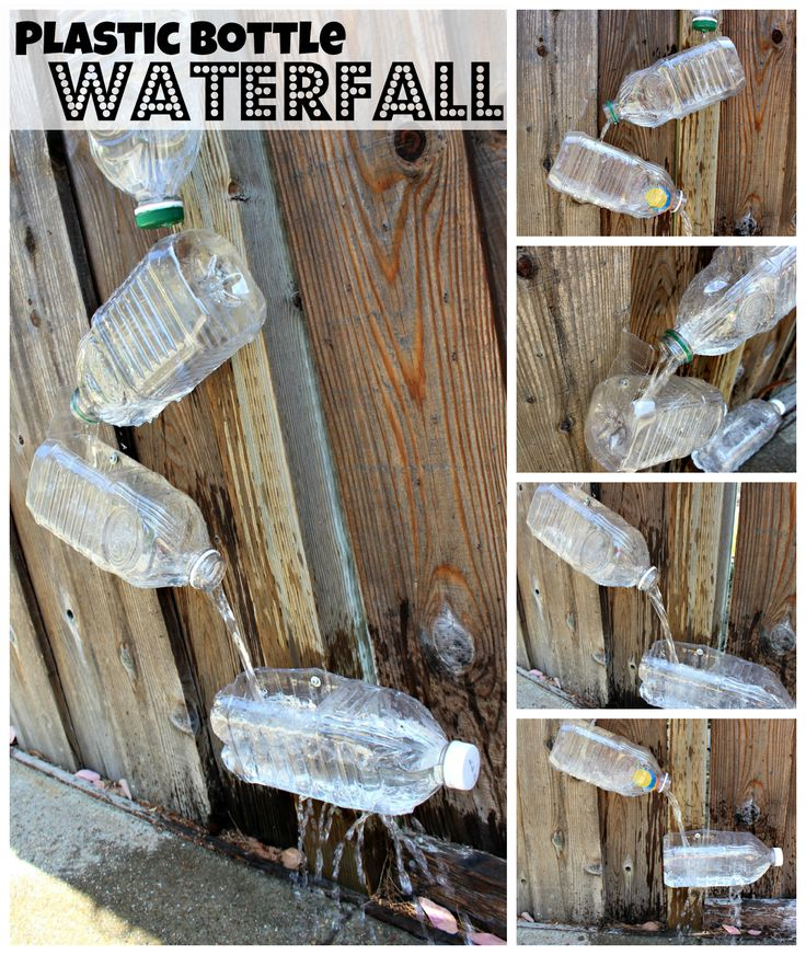 18 best images about preschool waterfalls on pinterest for How do i make a wall with colored bottles