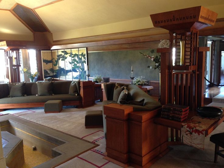 The Living Room Of Hollyhock House California Modern House Interior