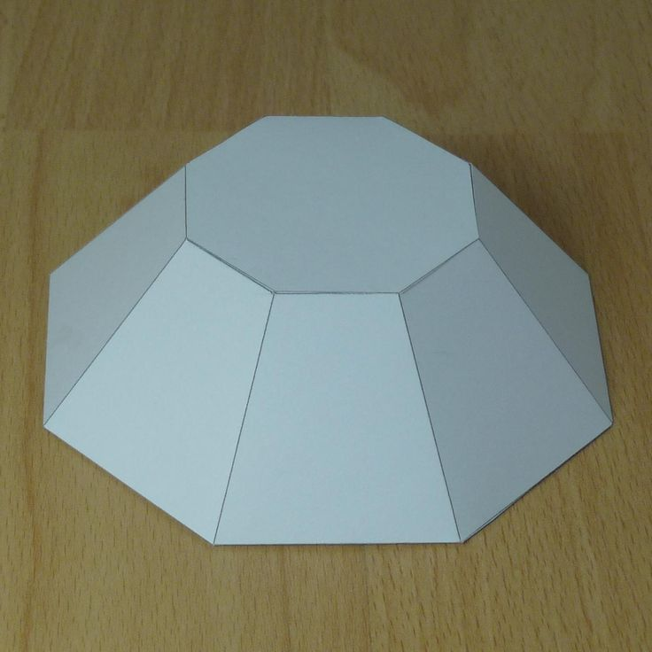 Paper Model Truncated Octagonal Pyramid With Images Octagon Pattern Ceramic Design Pyramids