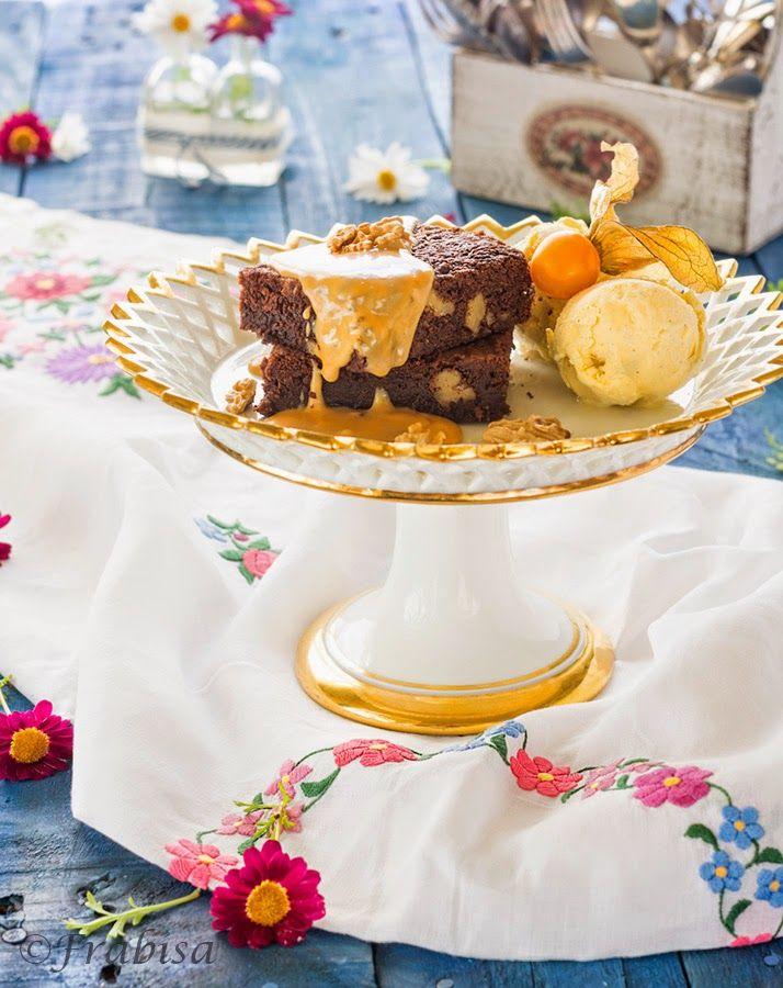La cocina de Frabisa: Brownie con Salsa de Dulce de Leche. ¡¡Chocolate!!