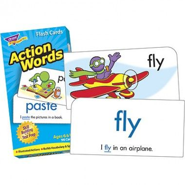 Action Words Flash Cards