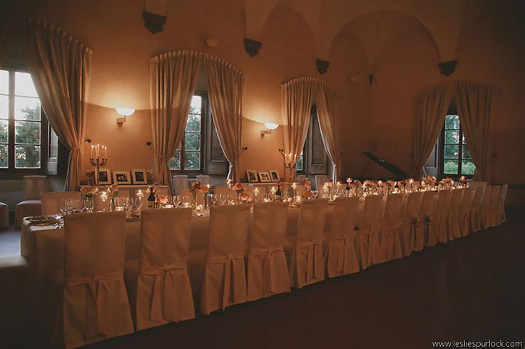 Inside wedding at Castello Vicchiomaggio