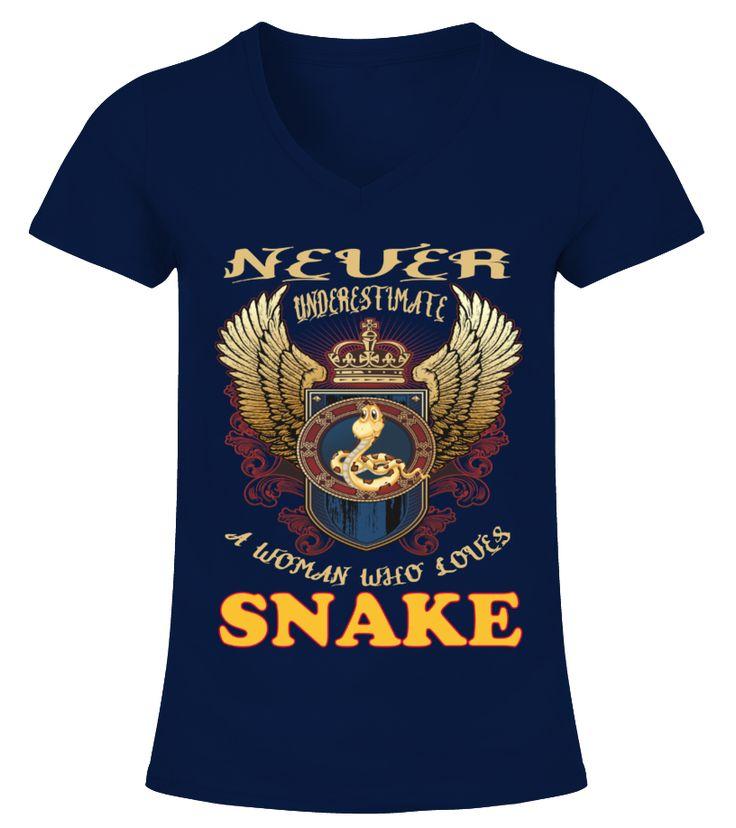 A Woman Loves Snake Classic  Funny Snake T-shirt, Best Snake T-shirt