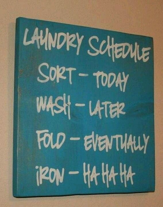 I love this! Need this in my laundry room! Lol