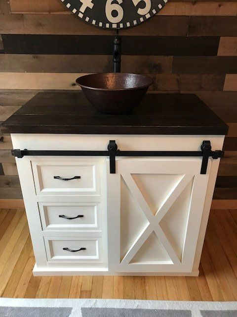 Barn Door Bathroom Vanity Free Shipping By Knoxrestoration On Etsy