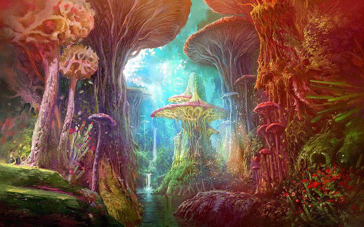 magic mushroom art - photo #8