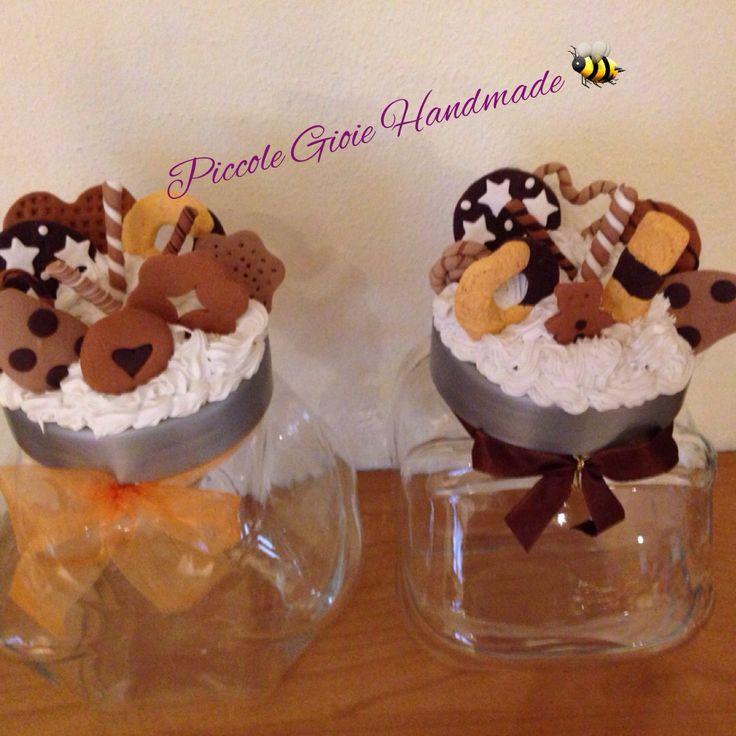 Barattoli per biscotti decorati con fimo