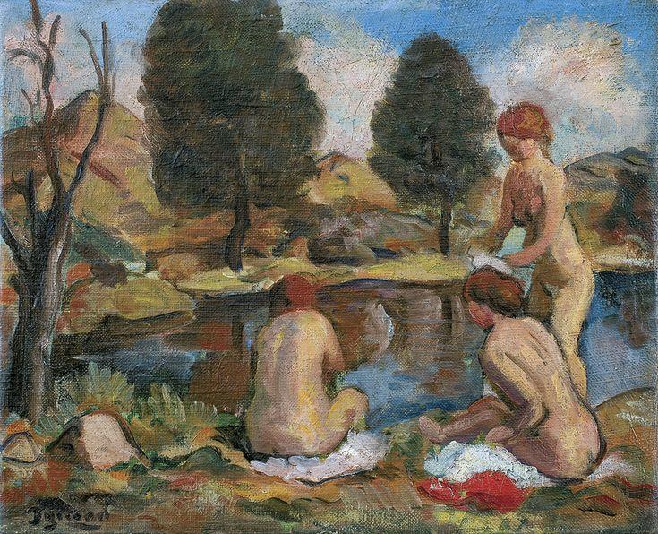 Niesiołowski Tymon - KĄPIĄCE SIĘ, ok. 1940 olej, płótno, 32.5 x 39.5