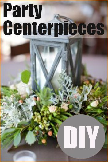DIY Party Centerpieces.  Creative table centerpieces for any occasion.