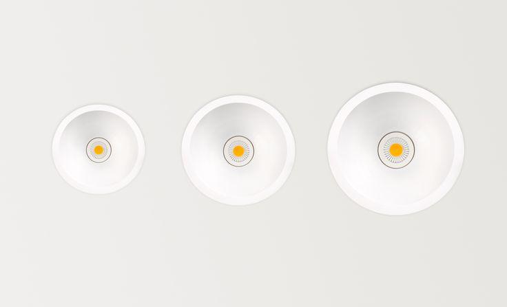 Swap sizes S M L - LED luminaire. Ceiling downlight (Ceiling Recessed). — in Arkoslight.