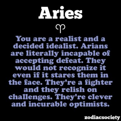 Aries: Youthful Go-getter.