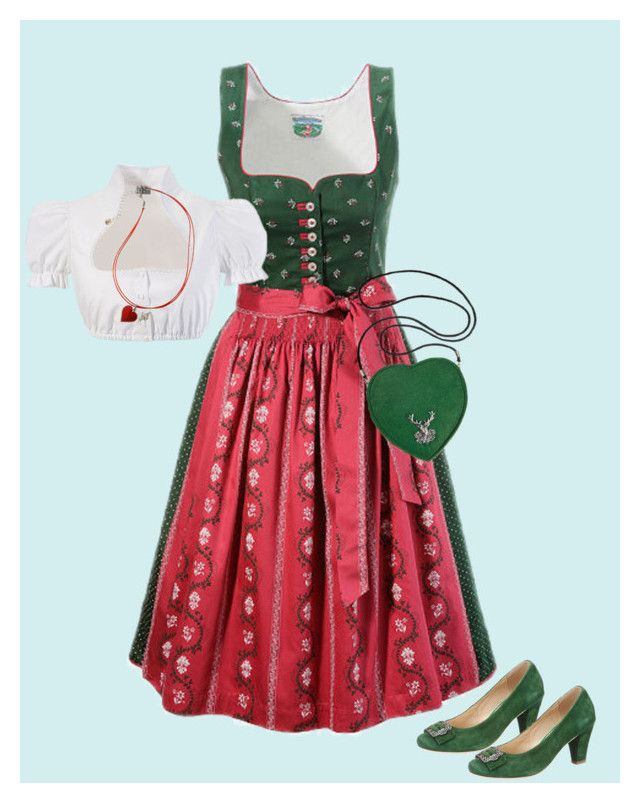"""""""Oktoberfest 2016 outfit red/green"""" by juliainuk on Polyvore featuring Andrea Conti"""