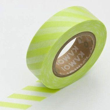 Masking Tape Single Roll - Stripe Wakaba