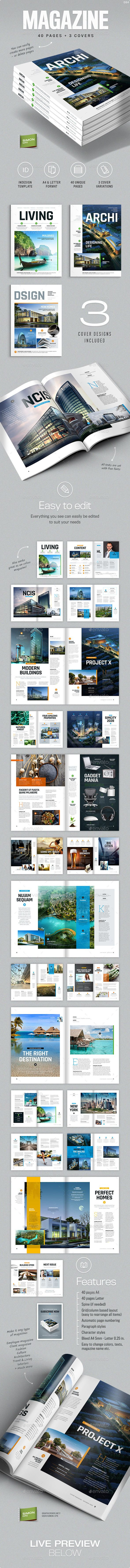 Magazine Template A4 and Letter - Living by simon-cpx Magazine template �20Living Professional, clean and modern magazine �20in both A4 and Letter format. Just drop in your own images a