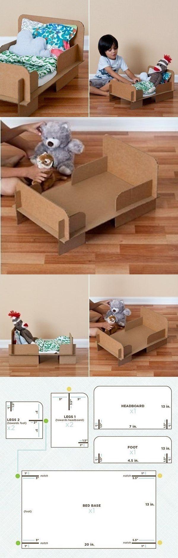 ¿Qué sueles hacer frente a las cajas de cartón? ¿Tíralos? Ahora podemos hacerlos para los niños. Este proyecto es atractivo, porque todas las piezas de cie