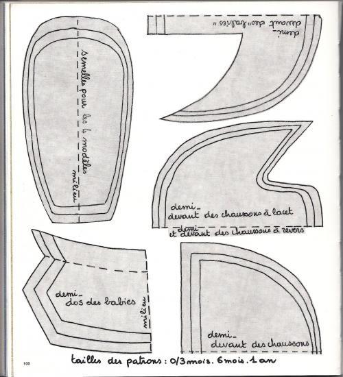 felt shoes template1