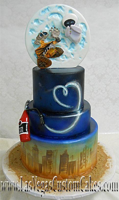 Wall E Wedding Cake