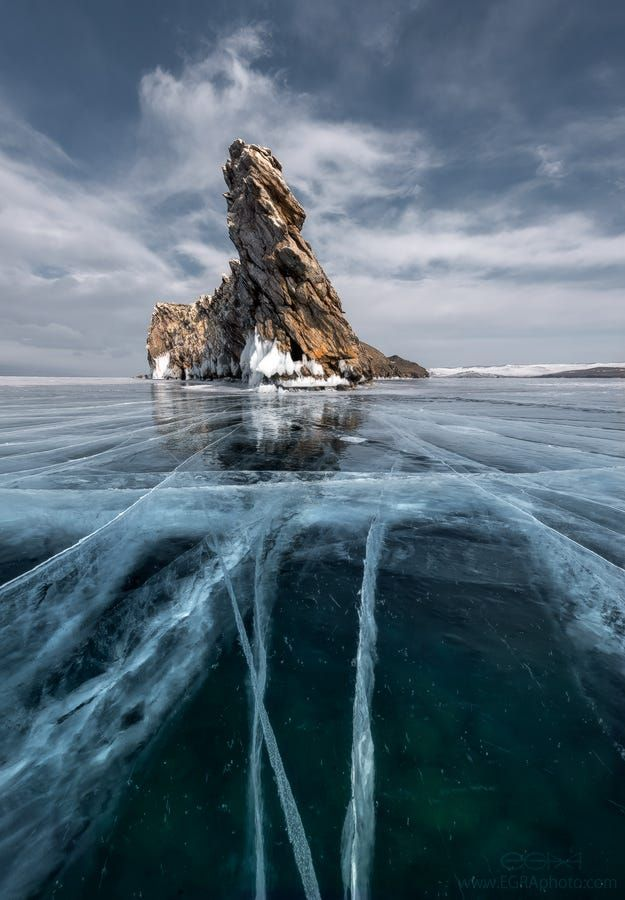 Dragon Rock on Lake Baikal, Russia (by EGRA photography on 500px)